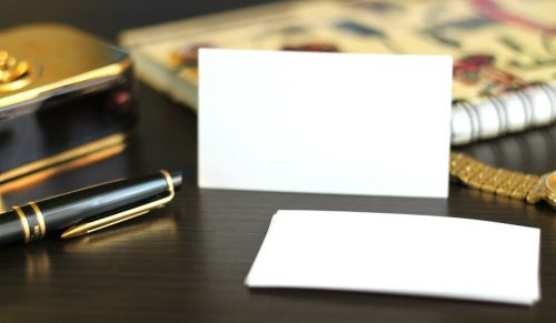 visit card business card paper