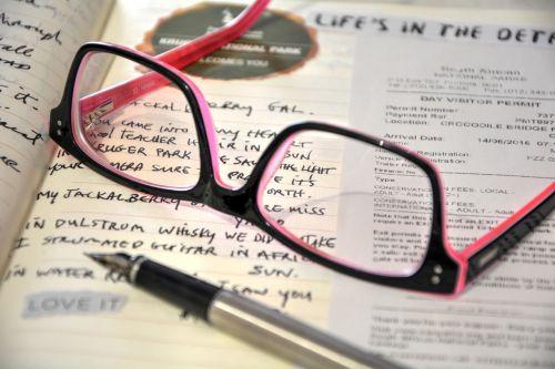 visual diary writing down keep record