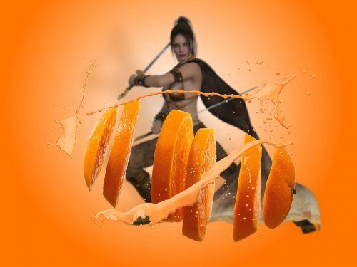 vitamins sword woman