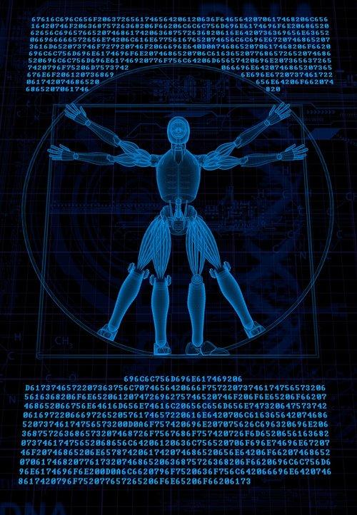 vitruvian  robot  cyborg
