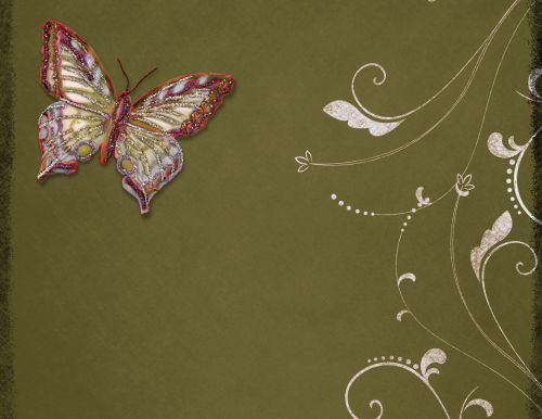 Butterflies With Pearls 2