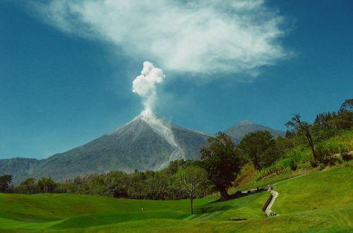 volcanic eruption volcano guatemala