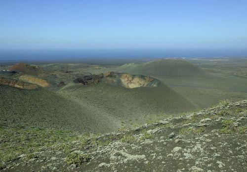 volcanic landscape lanzarote timanfaya