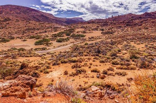 volcanic landscape  tenerife  nature