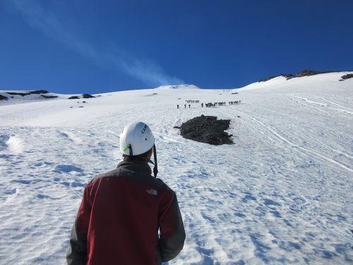 volcano snow mountain