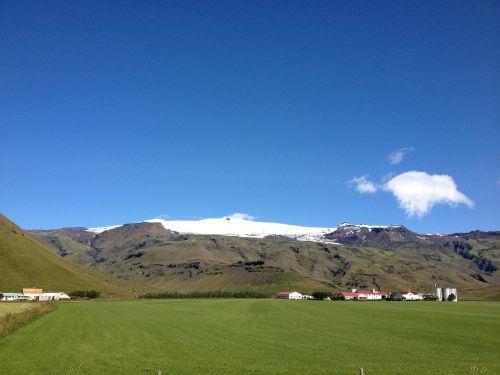 vulkanas,iceland,sniegas,kraštovaizdis