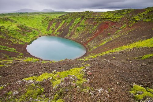 volcano crater volcanic crater