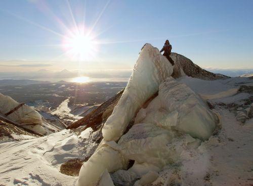 volcano glacier the ice wall