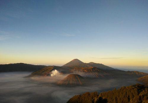 volcano mount bromo mount semeru