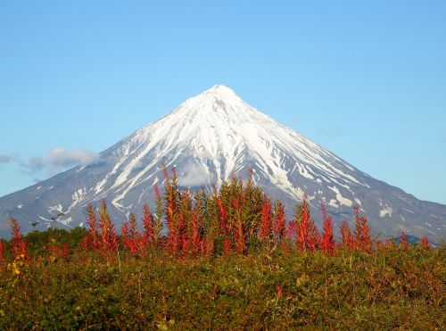volcano mountains ridge