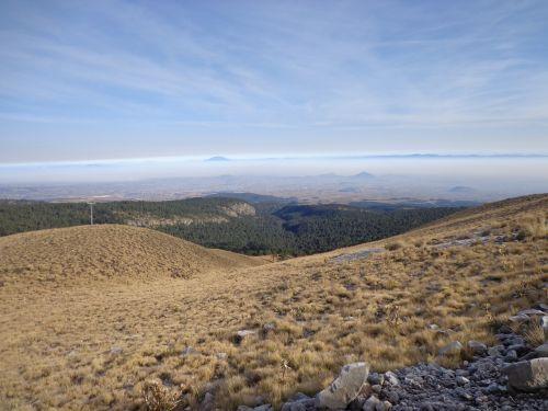 volcano nevado de toluca hillside