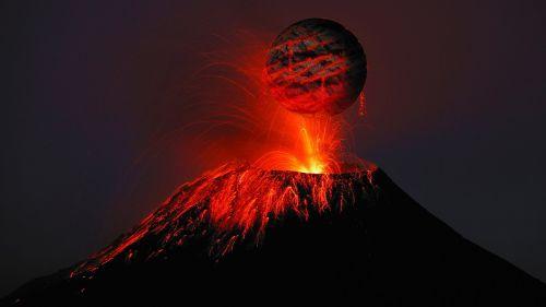 volcano lava rash
