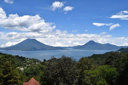 volcano  atitlan guatemala  guatemala