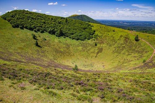 volcano  landscape  countryside