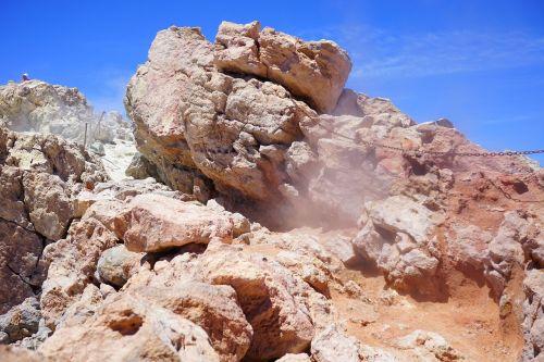 volcano steam sulfur vapor
