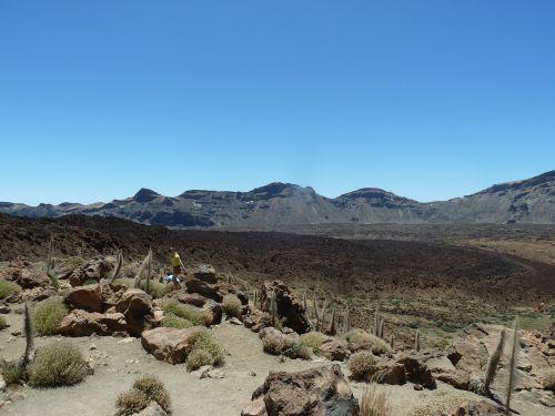 volcano caldera sky