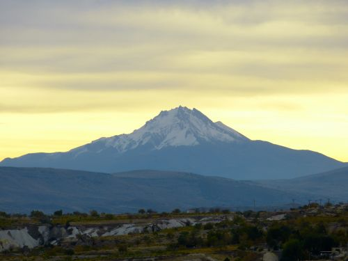 volcano volcanic erciyes went out