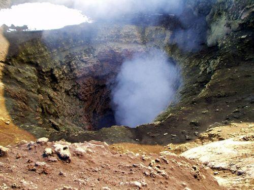 volcano crater volcanism