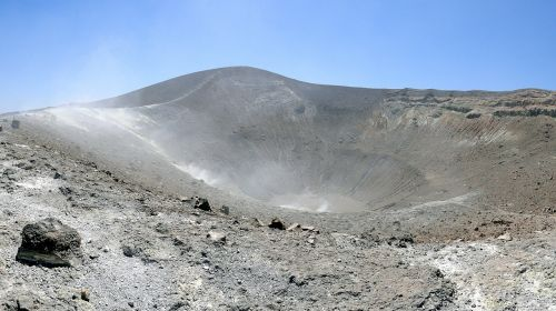 volcano volcanic crater crater