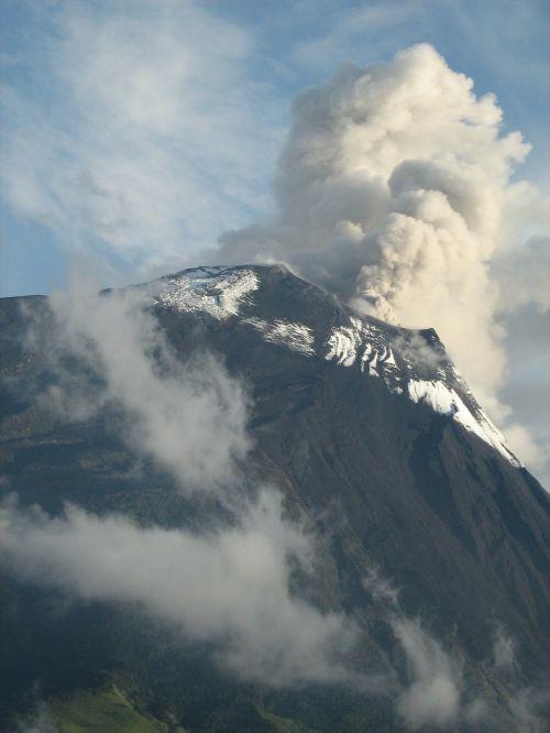 volcano tunguragua nature eruption