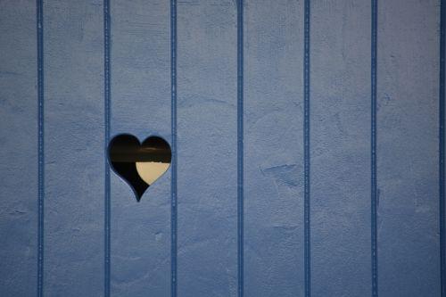 Wooden Shutter With A Heart