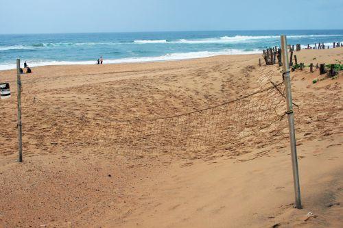 Volley Ball Net On Beach