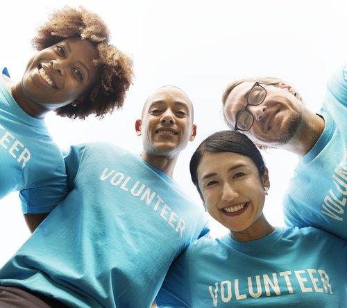 volunteer  adult  arms around