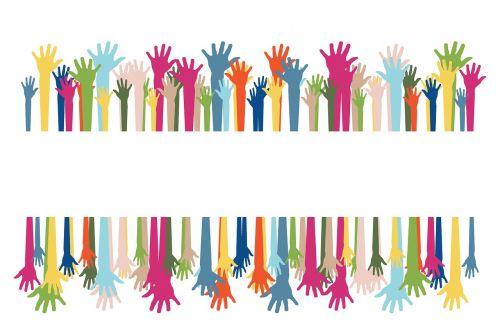 volunteers hands voluntary