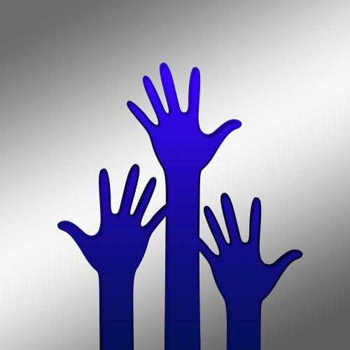 volunteers hands wrap