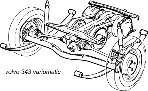 volvo axel suspension