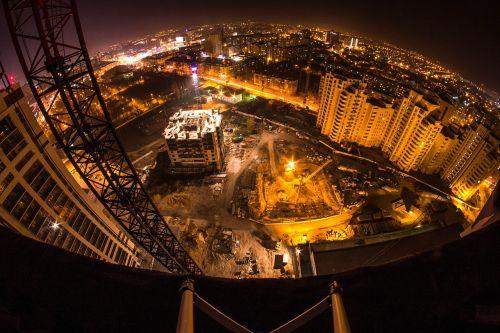 voronezh night city construction