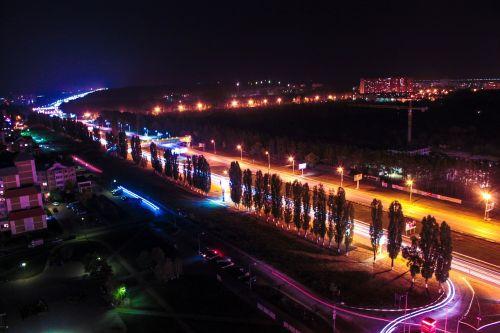 voronezh night city freezelight