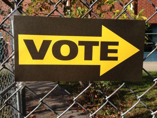 vote sign voting