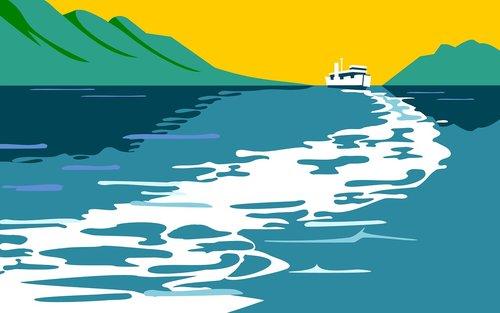 voyage  travel  lake