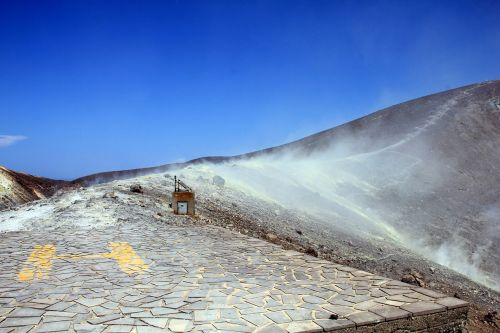 vulcano aeolian islands sulphur field