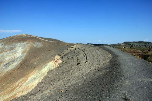 vulcano aeolian islands crater rim