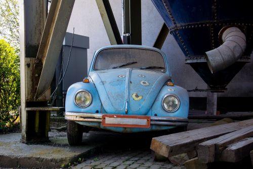 vw beetle old broken