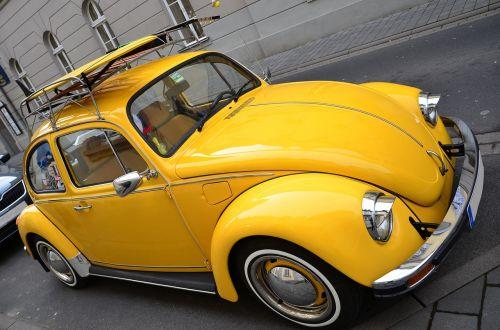 vw beetle yellow beetle volkswagen vw