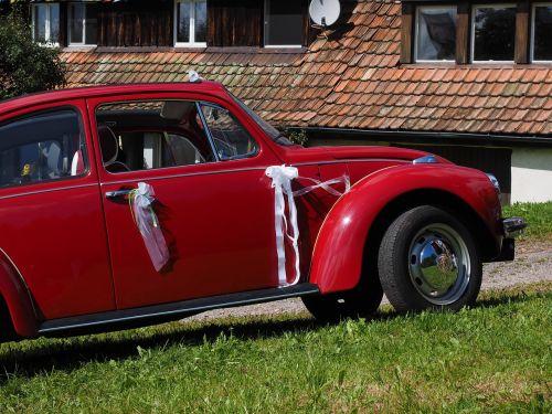 vw beetle bridal car auto
