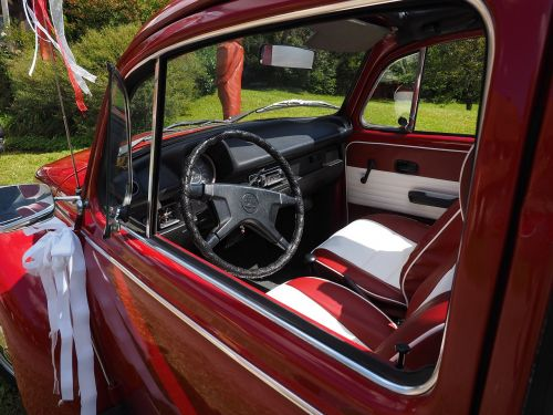 vw beetle interior steering wheel