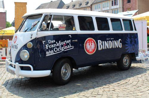 vw bus advertising transporter