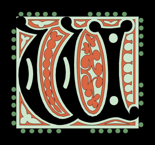 w alphabet vintage