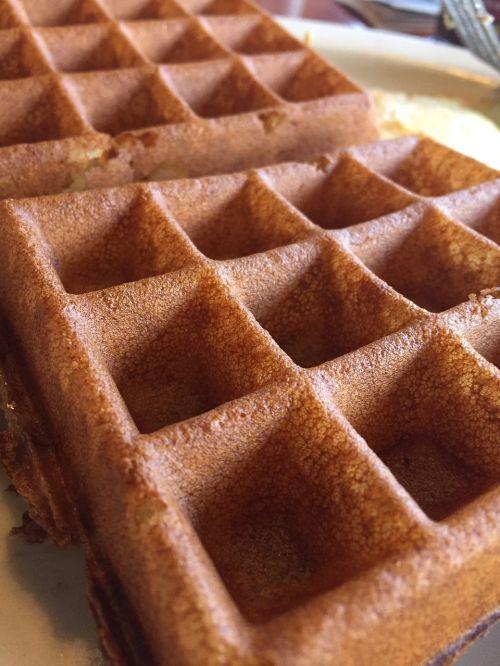 waffle breakfast food