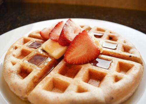 waffle waffles strawberry