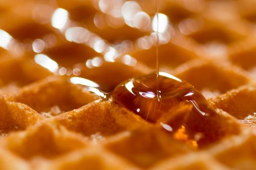 waffle belgian syrup