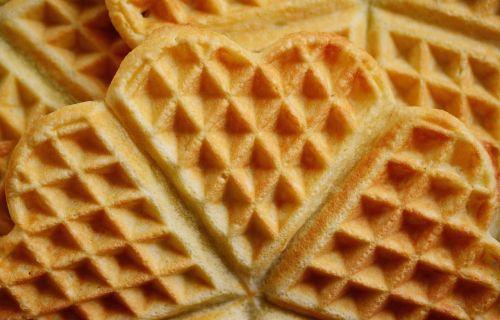 waffles waffle heart cake