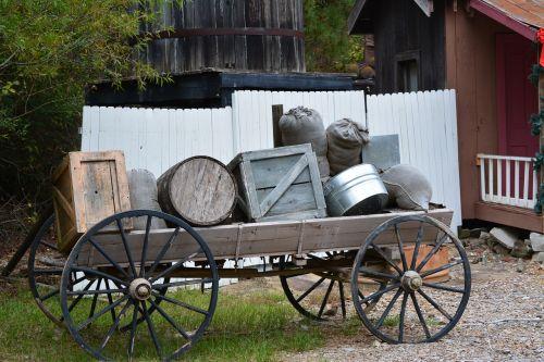 wagon rustic crate