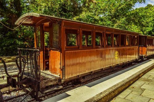 vagonas,medinis,atviras,vasara,vintage,traukinys,gabenimas,geležinkelis,milies,Graikija