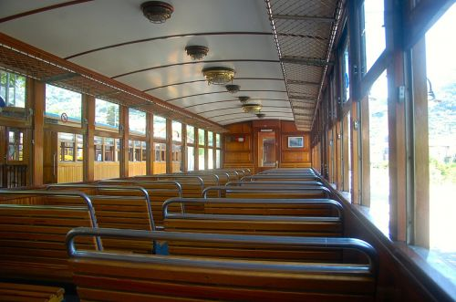 wagon interior train