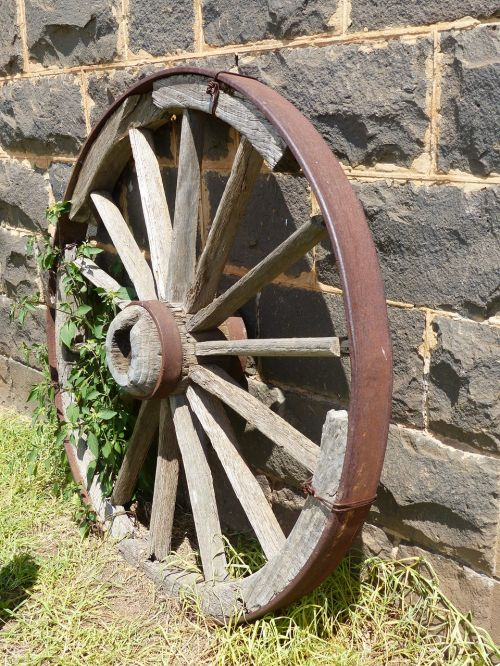 wagon wheel antique background